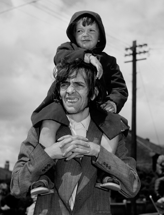 Father & son, Westend of Newcastle, Tyneside 1980