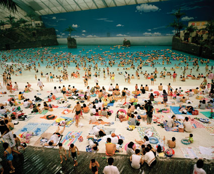 Japan. Miyazaki. The Artificial Beach Inside the Ocean Dome 1996