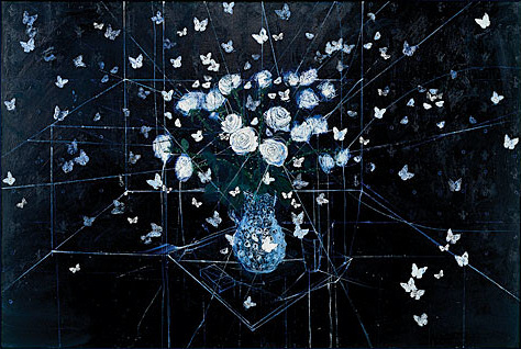 2008 - Requiem, White Roses and Butterflies - Damien Hirst
