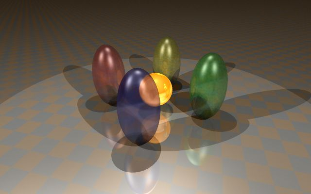 Glossy refraction surfaces