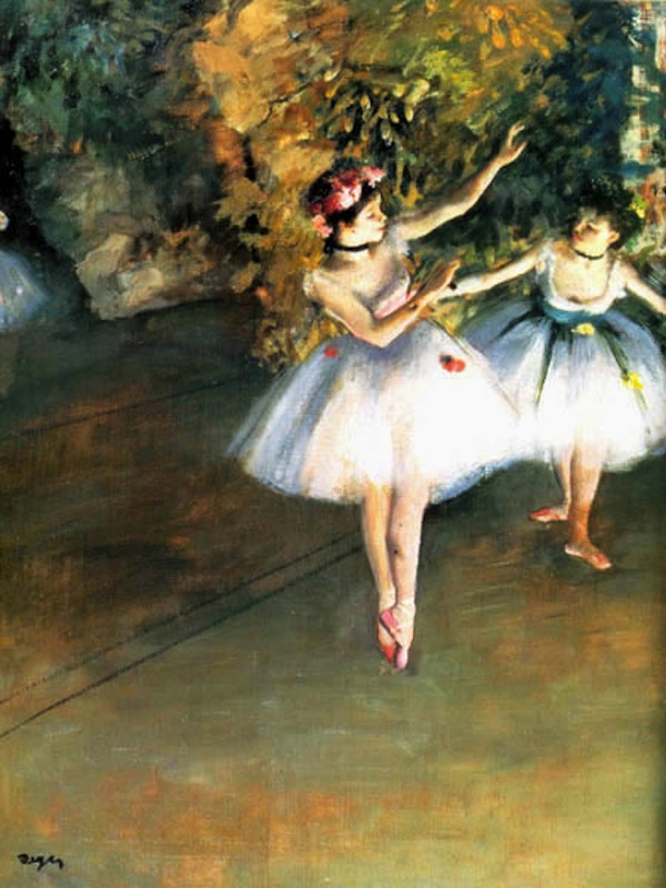 Two Dancers on the Stage, Edgar Degas, 1874