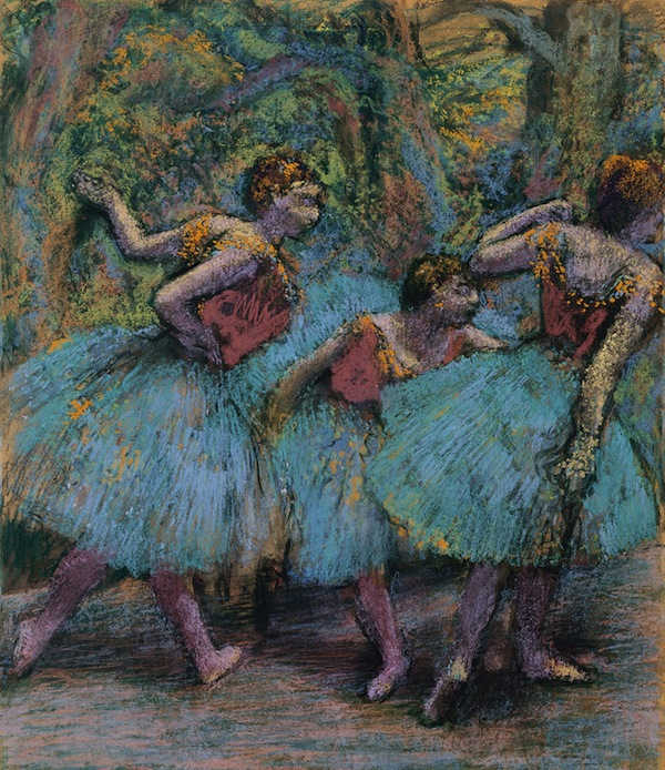Three Dancers (Blue Skirts, Red Bodices), Edgar Degas, 1903