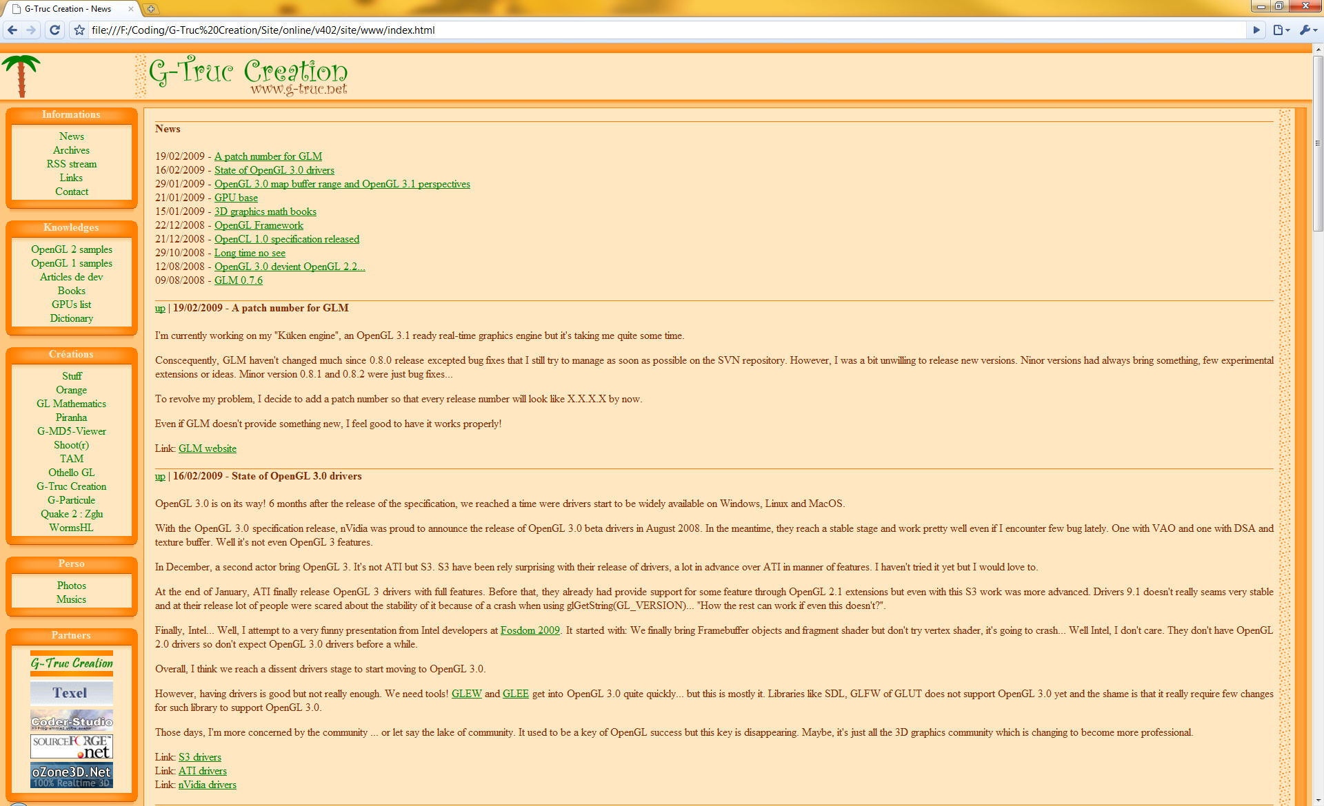 G-Truc Creation Website